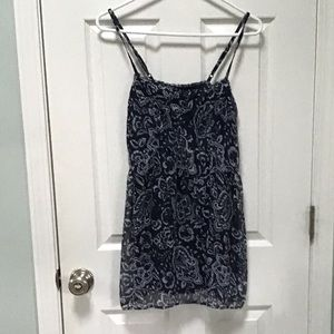 Abercrombie and Fitch A&F Navy Blue Floral Dress